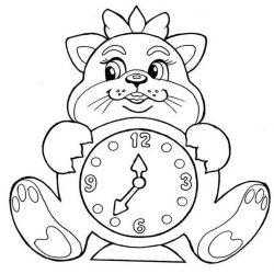 Часы - раскраски