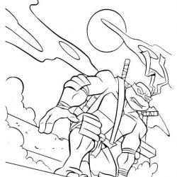 Черепашки-ниндзя раскраски
