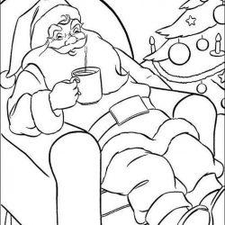Дед Мороз - раскраски