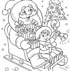 Дед Мороз — раскраски