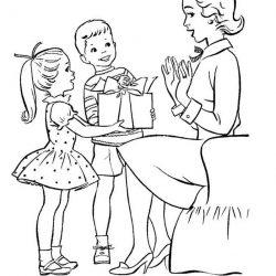 День Мамы - раскраски
