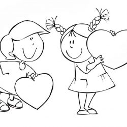 День влюбленных — раскраски