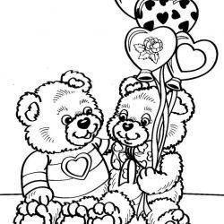 День влюбленных - раскраски