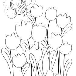 Цветы для малышей - раскраски