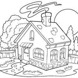 Дома - раскраски