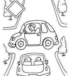 Дорожное движение - раскраски