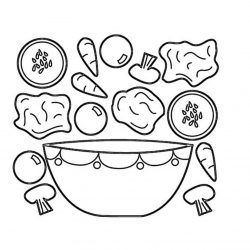 Еда - раскраски