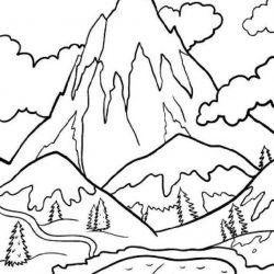 Горы - раскраски