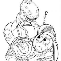 История игрушек - раскраски