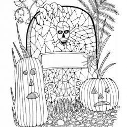 Хэллоуин - раскраски