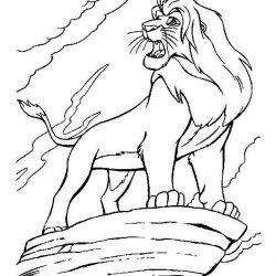 Король Лев — раскраски