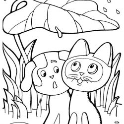 Кошки и Котята раскраски