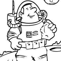 Космонавты - раскраски