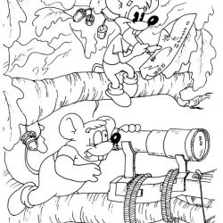 Кот Леопольд - раскраски