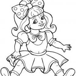 Куклы - раскраски