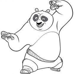 Кунг-фу Панда — раскраски