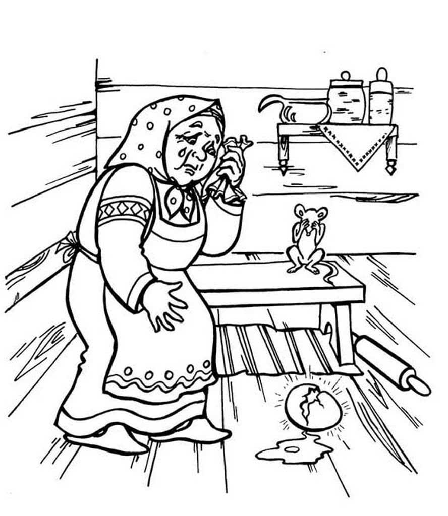 Картинка черно белая курочка ряба