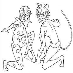 Леди Баг и Супер Кот — раскраски