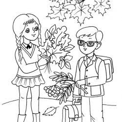 Листья — раскраски