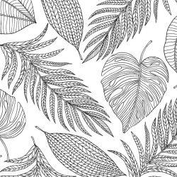 Листья - раскраски