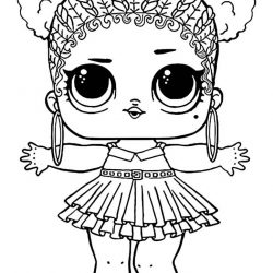 Кукла Лол - раскраска