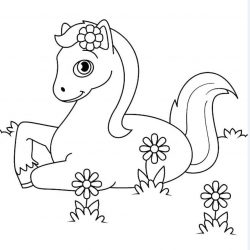 Лошадь и Конь - раскраски