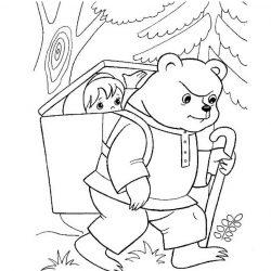 Маша и Медведь — раскраски