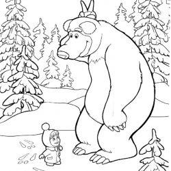 Маша и Медведь - раскраски 2 часть