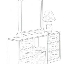 Мебель - раскраски