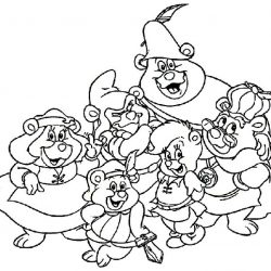 Мишки Гамми - раскраски