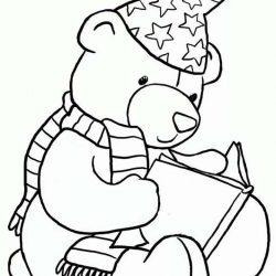 Мишка Тедди - раскраски
