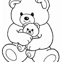Мишка Тедди — раскраски