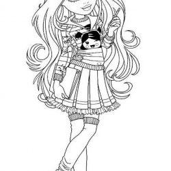 Кукла Мокси - раскраски