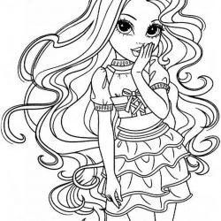 Кукла Мокси — раскраски