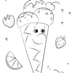 Мороженое - раскраски