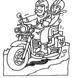 Мотоциклы - раскраски