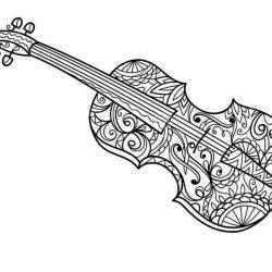 Музыкальные инструменты - раскраски