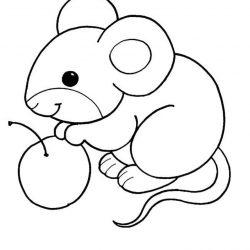 Мышка - раскраски