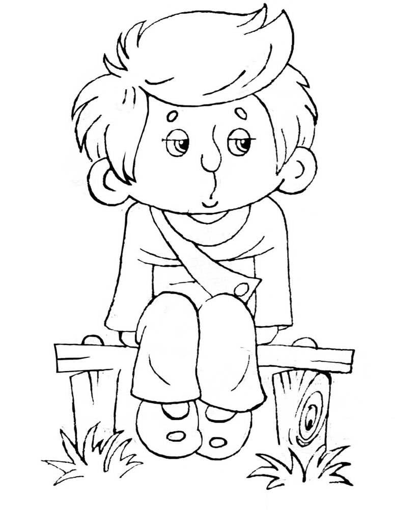 Картинки мальчик раскраска