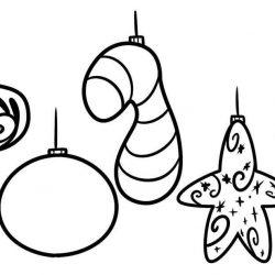 Новогодние игрушки - раскраски