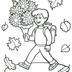 Осень - раскраски