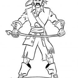 Пираты - раскраски