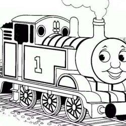 Поезда — раскраски