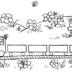 Поезда - раскраски