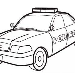 Полицейские машины — раскраски