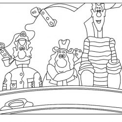 Приключения капитана Врунгеля - раскраски
