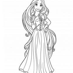 Принцессы раскраски