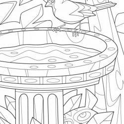 Птицы — раскраски часть 3