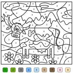 Раскрась по цифрам - раскраски