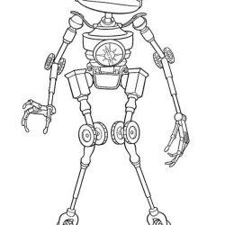 Роботы - раскраски